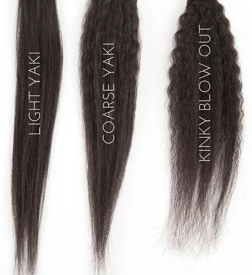 Light Yaki VS Coarse Yaki VS Kinky Straight